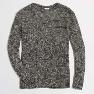 J. Crew Rolled Boatneck Marled Knit Sweater